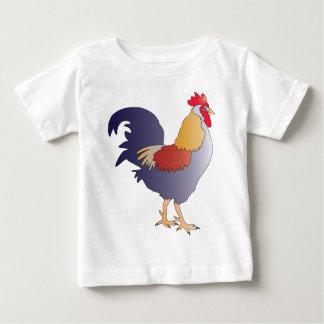 Elegantes Zeichnen eines lila französischen Hahns Baby T-shirt
