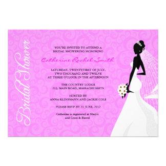 Elegent Silhouette-Brautparty-Einladung