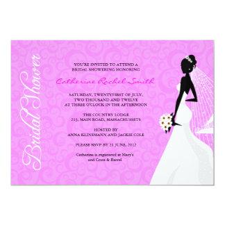 Elegent Silhouette-Brautparty-Einladung 12,7 X 17,8 Cm Einladungskarte