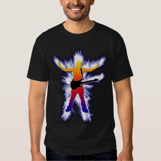 Elektrifizierende Bass-Spieler-Grafik Tshirt