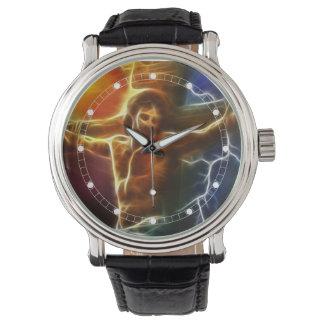 Elektrifizierende Jesus-Kreuzigung (mehrfache Armbanduhr