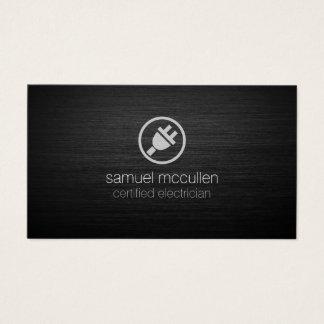 Elektriker-elektrischer Stecker-Ikone BrushedMetal Visitenkarte