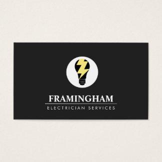 Elektriker-Glühlampe-Logo Visitenkarte