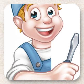 Elektriker oder Heimwerker, die Schraubenzieher Getränkeuntersetzer