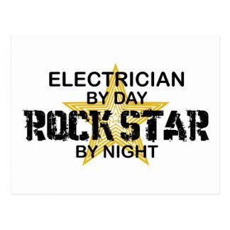 Elektriker-Rockstar bis zum Nacht Postkarte