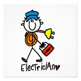 Elektriker-Strichmännchen Individuelle Einladungen