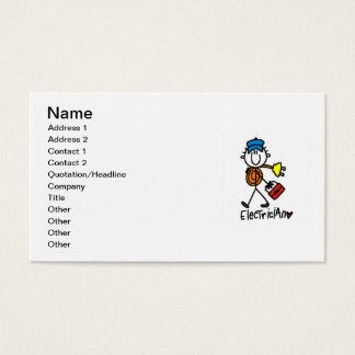 Elektriker-Strichmännchen Visitenkarte