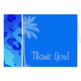 Elektrische blaue Camouflage; Sommer-Palme Karte