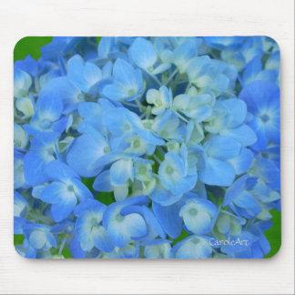 Elektrische blaue Hydrangeas Mousepad