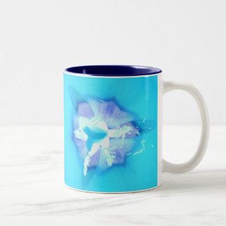 Elektrische blaue Tulpe Zweifarbige Tasse