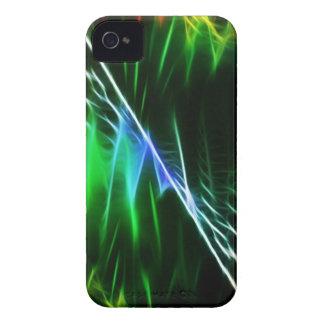 Elektrische blaue und grüne Welle iPhone 4 Hüllen