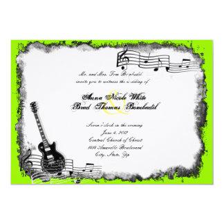 Elektrische Gitarren-Limone 12,7 X 17,8 Cm Einladungskarte