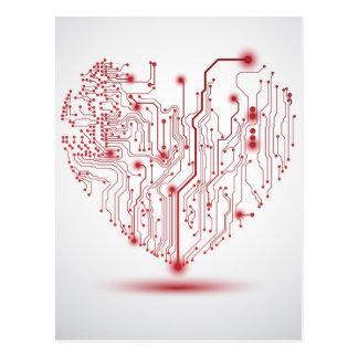 Elektrische Herz-Postkarte Postkarte