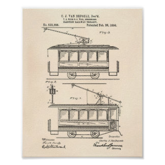 Elektrische Patent-Kunst altes Peper der Poster