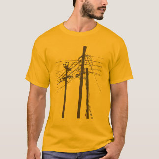 elektrische Powerlinien T-Shirt