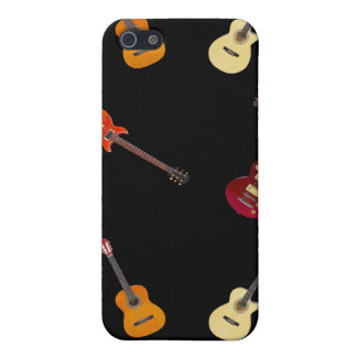 Elektrische u. Akustikgitarre-Collage iPhone 5 Etui
