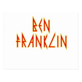 Elektrischer Ben Franklin Postkarte
