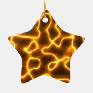 Elektrischer Blitz Keramik Stern-Ornament