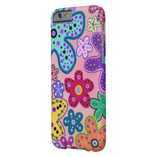 Elektrischer Blumen-Muster iPhone 6 Fall Barely There iPhone 6 Hülle