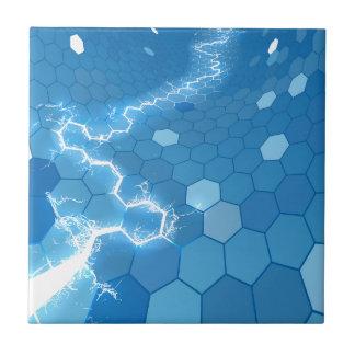 Elektrischer Hexagon-Bienenwaben-Hintergrund Keramikfliese