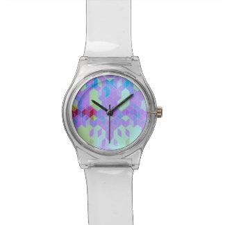 Elektrischer lila Würfel-Entwurf Armbanduhr