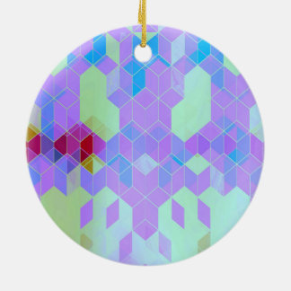 Elektrischer lila Würfel-Entwurf Keramik Ornament
