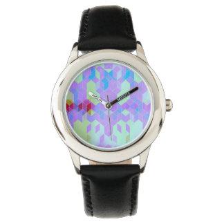Elektrischer lila Würfel-Entwurf Uhr