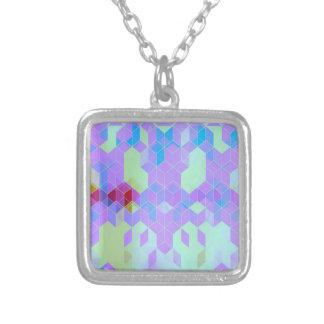 Elektrischer lila Würfel-Entwurf Versilberte Kette