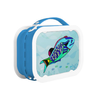 Elektrischer Papageienfisch Brotdose
