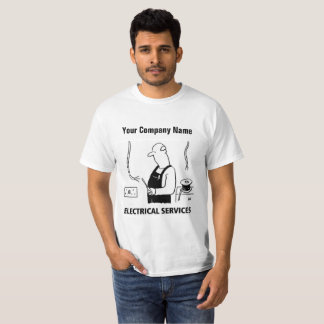 Elektrischer Service-Cartoon-T - Shirt