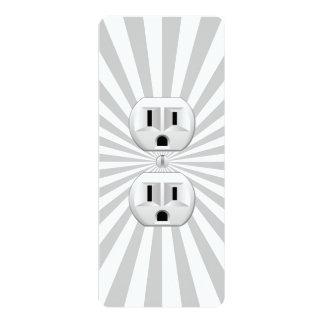 Elektrischer Stecker-Wand-Ausgang-Spaß fertigen 10,2 X 23,5 Cm Einladungskarte