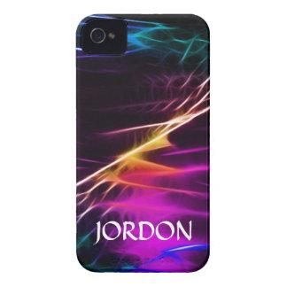 Elektrischer violetter Blitzsturm Case-Mate iPhone 4 Hülle