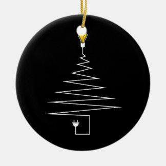 Elektrischer Weihnachtsbaum Keramik Ornament