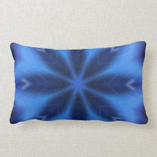 Elektrisches Blau-Blätter Lendenkissen