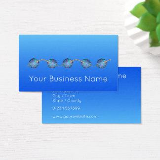 Elektrisches Blau schattiertes modernes einfaches Visitenkarte