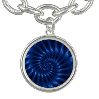 Elektrisches blaues gewundenes armband