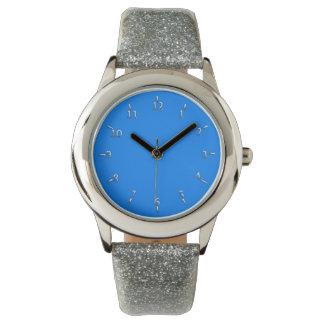 Elektrisches Blaues und silbern Handuhr