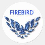 elektrisches firebird runder sticker