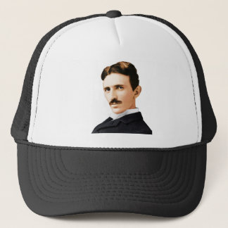 Elektrisches Genie Nikola Teslas Truckerkappe