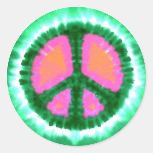 Elektrisches Krawatten-Friedenszeichen Runder Sticker