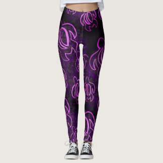 Elektrisches lila Honu Leggings