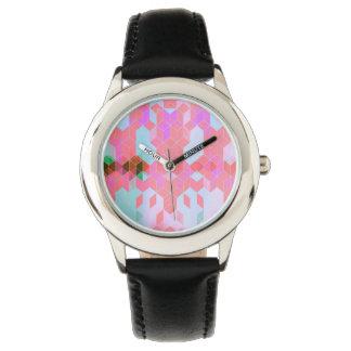 Elektrisches Rosa berechnet Grafikdesigns Uhr