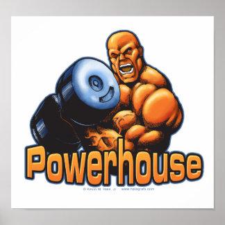 Elektrizitätskraftwerk-Locken-Plakat
