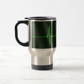 Elektrokardiogramm-Wellen-Reise-Tasse