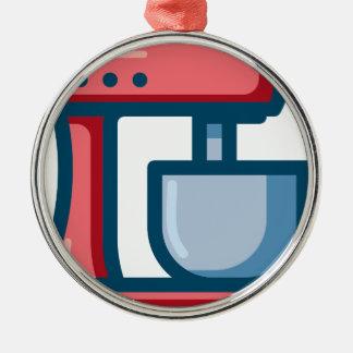 Elektromixer Silbernes Ornament