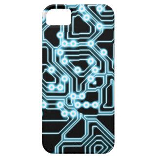 Elektron - Blau/Schwarzes iPhone 5 Etui
