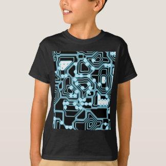 Elektron - Blau/Schwarzes T-Shirt