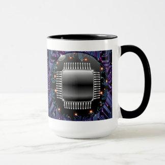 Elektronische Motherboard-Stromkreis-Tasse Tasse