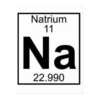 Element 011 - Na - Natrium (voll) Postkarte