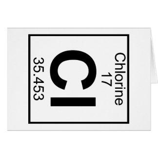 Element 017 - Cl - Chlor (voll) Karte